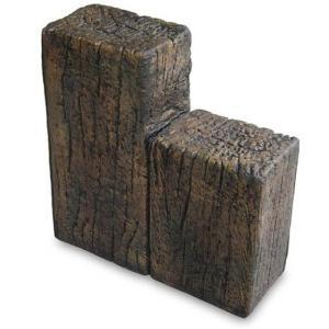 花壇 材木 花壇用ブロック スリーパーエッジャー A 段違2連 3個セット pocketcompany