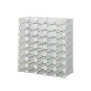 8段×5列でヘアーカラーが40本収納できます。底面がフラット仕様でカウンターの上や収納棚への格納が可...