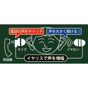 イヤリス イヤホンマイク式集音器 専用 電話用イヤホンマイク ELPA|pocketcompany|03