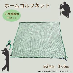 ゴルフネット 網 家庭用ゴルフネット 特2号型 正面補強用PEネット