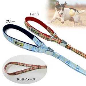 ペット用品 犬 リード 首輪 一体 犬 リード おしゃれ ストライプ M|pocketcompany