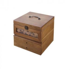 メイクボックス 鏡付き 木製 化粧箱 木製 鏡付きコスメボックス  pocketcompany