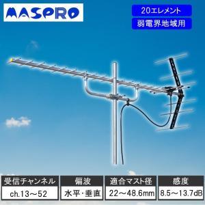 地上デジタル放送受信の定番タイプのアンテナです。UHF全帯域(ch.13~52)対応。適合マスト径が...