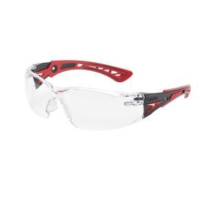 優れた耐久性を誇る保護メガネ。ラバー素材とPCの一体成型テンプルにより、優れたフィット感とホールド感...