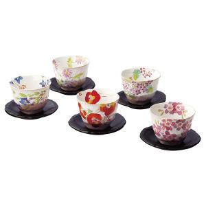 個性あふれる鮮やかなデザインの茶托付煎茶揃です。 製造国:日本 素材・材質:磁器(美濃焼) 商品サイ...