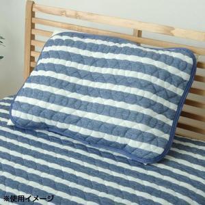 接触冷感 枕パッド リバーシブル ガリガリ君シルバー 約43×63cm 1563599
