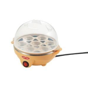 卵の個数、固さ(ソフト・ミディアム・ハード)に合わせて付属の計量カップで水を測り、ゆで加減を調整する...