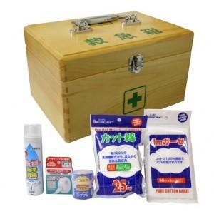 救急箱 大 スポーツ 木製 薬箱 収納 お薬箱 薬入れ 救急セット