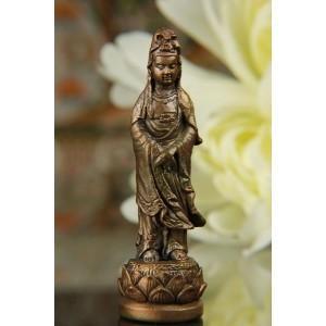 極小仏像 大 観音菩薩 観音像 観音 様 観音様 彫刻 お守り 金運