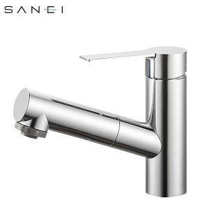 シングルスプレー 混合栓 シャワー 洗髪用 サンエイ 水栓金具 節水水栓