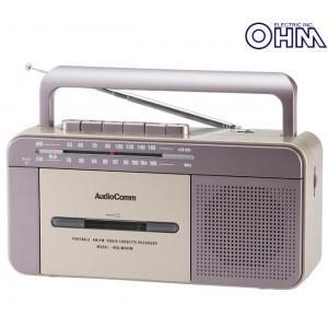 ラジオカセットレコーダー 昭和レトロ ラジカセ モノラルラジカセ マイク内臓