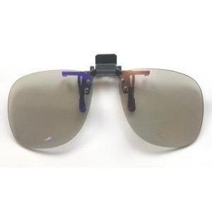 PCメガネ ブルーライトカット クリップオン クリップオーバーサングラス