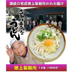 るみばあちゃんの讃岐うどん 讃岐うどん 生麺 手打ち 池上製麺所 18食|pocketcompany