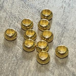 ゴールドカラー 金属 大穴 ビーズ 5mm径 10個セット|pod-material