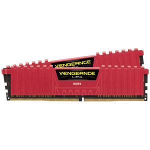 【在庫目安:お取り寄せ】 コルセア(メモリ) CMK8GX4M2A2666C16R VENGEANCE LPX Red PC4-21300 DDR4-2666 8GB(2x4GB) For Desktop|podpark