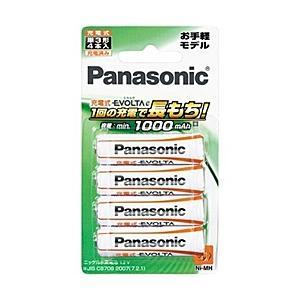 【在庫目安:あり】Panasonic  BK-3LLB/4B 充電式エボルタ 単3形 4本パック(お手軽モデル)