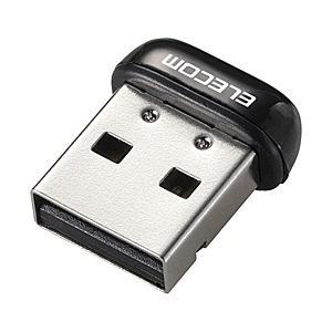 【在庫目安:あり】ELECOM  WDC-150SU2MBK IEEE802.11n/ g/ b対応無線LAN子機/ 150Mbps/ USB2.0用/ 超小型/ ブラック