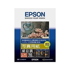 【在庫目安:お取り寄せ】EPSON  KL20MSHR 写真用紙<絹目調> (L判/ 20枚)