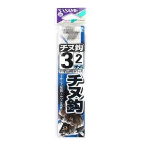 ささめ針 チヌ鈎 AA301 針3号−ハリス2号 白(東日本店)