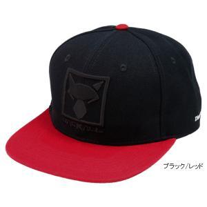 ジャッカル SQUARE LOGO FLAT CAP フリー ブラック/レッド