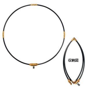 がまかつ 磯タモ枠(四折り・ジュラルミン) GM−825 55cm ブラック×ゴールド