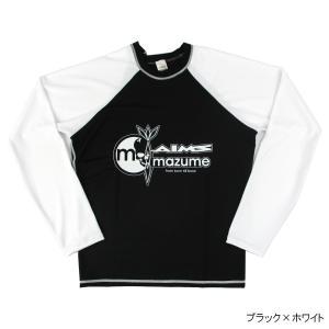 mazume×AIMS ラッシュガード(長袖) MZRG-371 L ブラック×ホワイト|point-i