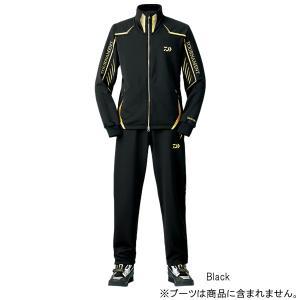 ダイワ トーナメント ジャージスーツ DI-1007T L Black|point-i