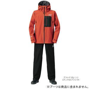 ダイワ ゴアテックス プロダクト パックライト レインスーツ DR-1908 L ブラッドオレンジ|point-i