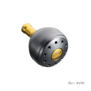 シマノ 夢屋 アルミラウンド型パワーハンドルノブ グレー M ノブ TypeB用|point-i