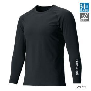 シマノ 【メーカー希望小売価格より40%OFF】ロングスリーブシャツ IN-061Q M BK【夏物クリアランス】|釣具のポイント