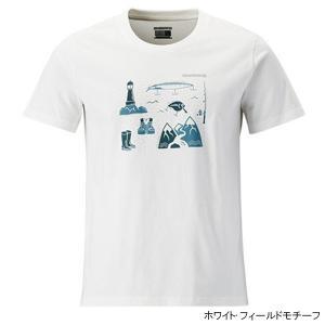 シマノ コットンTシャツ(半袖) SH-096R M ホワイト・フィールドモチーフ|point-i