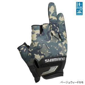 シマノ 3D・アドバンスグローブ3 GL-021S L ベージュウィードカモ【ゆうパケット】