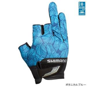 シマノ 3D・アドバンスグローブ3 GL-021S L ボタニカルブルー【ゆうパケット】