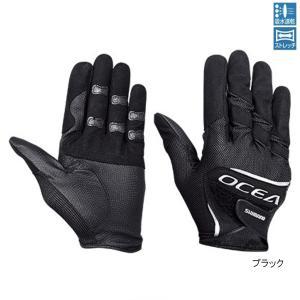 シマノ OCEA・ストレッチグローブ GL-245S L ブラック【ゆうパケット】
