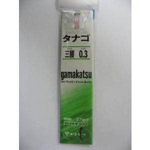 がまかつ(Gamakatsu) 糸付 タナゴ鈎 三腰 0.3号 茶