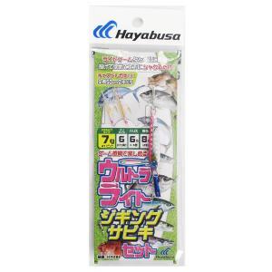 ハヤブサ ウルトラライトジギングサビキ HA282 針6号-ハリス6lb 7g #1(ピンク)【ゆうパケット】|point-i