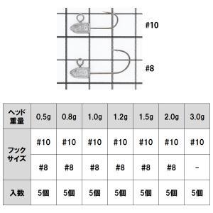 タカミヤ REALMETHOD AJI FLAT 0.8g #8【ゆうパケット】|point-i|05