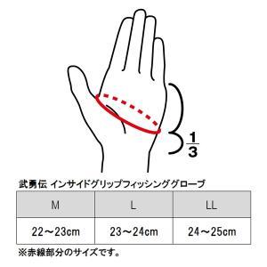 【現品限り】タカミヤ 武勇伝 インサイドグリップフィッシンググローブ 5本切 L【ゆうパケット】|point-i|05