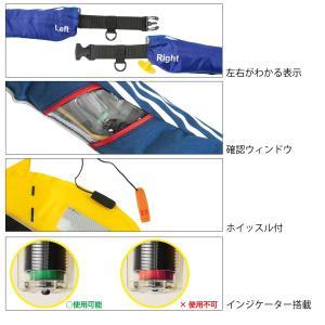 タカミヤ REALMETHOD 自動膨張式ライフジャケット ウエストベルトタイプ RM-5520RS ネイビーストライプ ※遊漁船対応|point-i|03