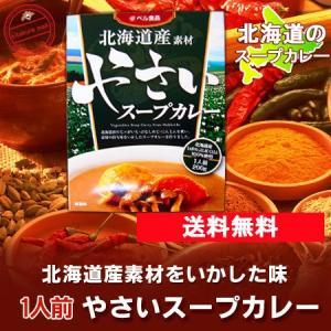 北海道 スープカレー 送料無料 レトルト 北海道産素材 やさい/野菜 スープカレー 1人前 送料無料 スープカレー メール便 ベル食品 価格 800 円|pointhonpo