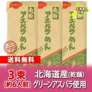 北海道産 アスパラめん 送料無料 北海道のアスパラを使用した アスパラめん 200 g×3束 価格 1240 円 送料無料 メール便 うどん|pointhonpo