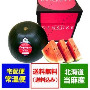 「送料無料 でんすけすいか 訳あり」優品(2Lサイズ)北海道のすいか 当麻町特産品 「でんすけすいか」でんすけ西瓜|pointhonpo