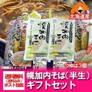 蕎麦 送料無料 幌加内 半生 蕎麦 240g×2袋(つゆ・にしん蕎麦の具 セット) 価格 2000 円 ポッキリ 送料無料 化粧箱入 包装あり pointhonpo