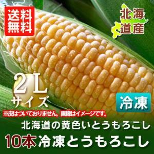 「北海道のとうもろこし 送料無料」 北海道産 黄色い とうもろこし(冷凍)2Lサイズを10本 特価「税込 3,280円」|pointhonpo