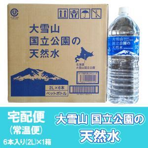 「北海道 天然水 2l」北海道の水 大雪旭岳源水 ペットボトル 2l 6本入×1ケース|pointhonpo