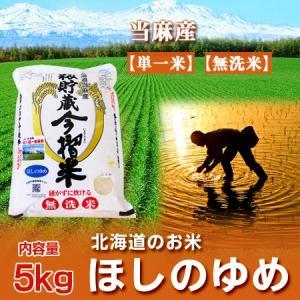 「北海道産米 ほしのゆめ 無洗米」 30年産 北海道産 ほしのゆめ 5kg 無洗米 北海道米 北海道当麻産米 ほしのゆめ 内容量:無洗米 5kg|pointhonpo