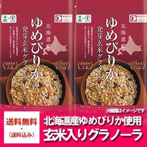 「北海道 グラノーラ 送料無料」北海道産のゆめぴりかの乾燥 玄米入り グラノーラを送料無料で グラノーラ 230g×2袋 価格 1950 円 「送料無料 グラノーラ」 pointhonpo