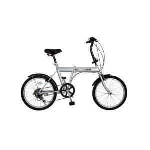 ACTIVE911 ノーパンクFDB206S/20インチ折畳自転車6段ギア シルバー|pointshoukadou