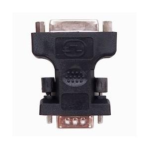 ディスプレイ変換アダプター D-Sub 15pin ミニ (オス) - DVI-I 29pin (24+5ピン メス) アナログ UL-CAAD009  UL.YN|pointshoukadou
