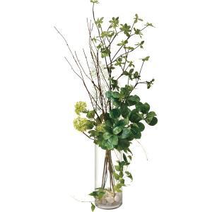 ■商品名:グリーンミックス ガラスベース (造花) PRSY-0110 PRIMA  床置きができる...